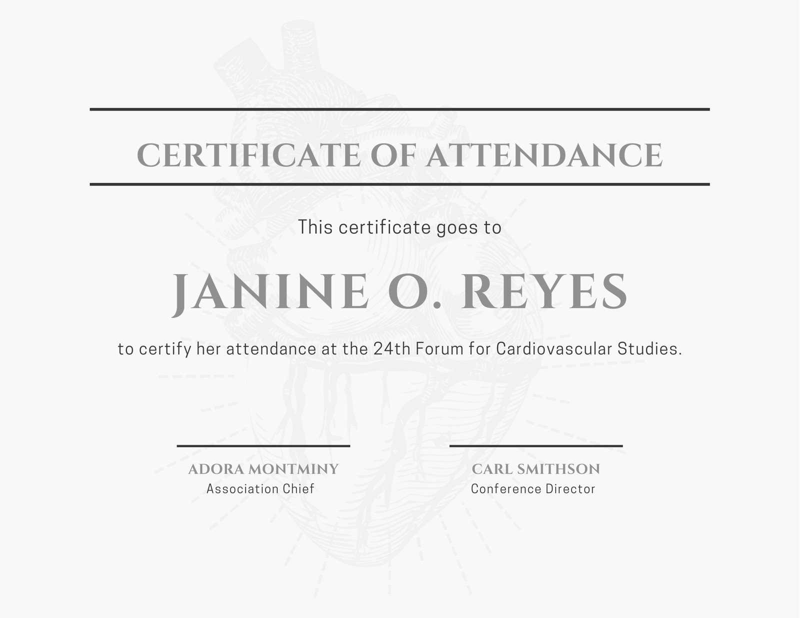 Minimalist Conference Attendance Certificate - Templates With Regard To Certificate Of Attendance Conference Template