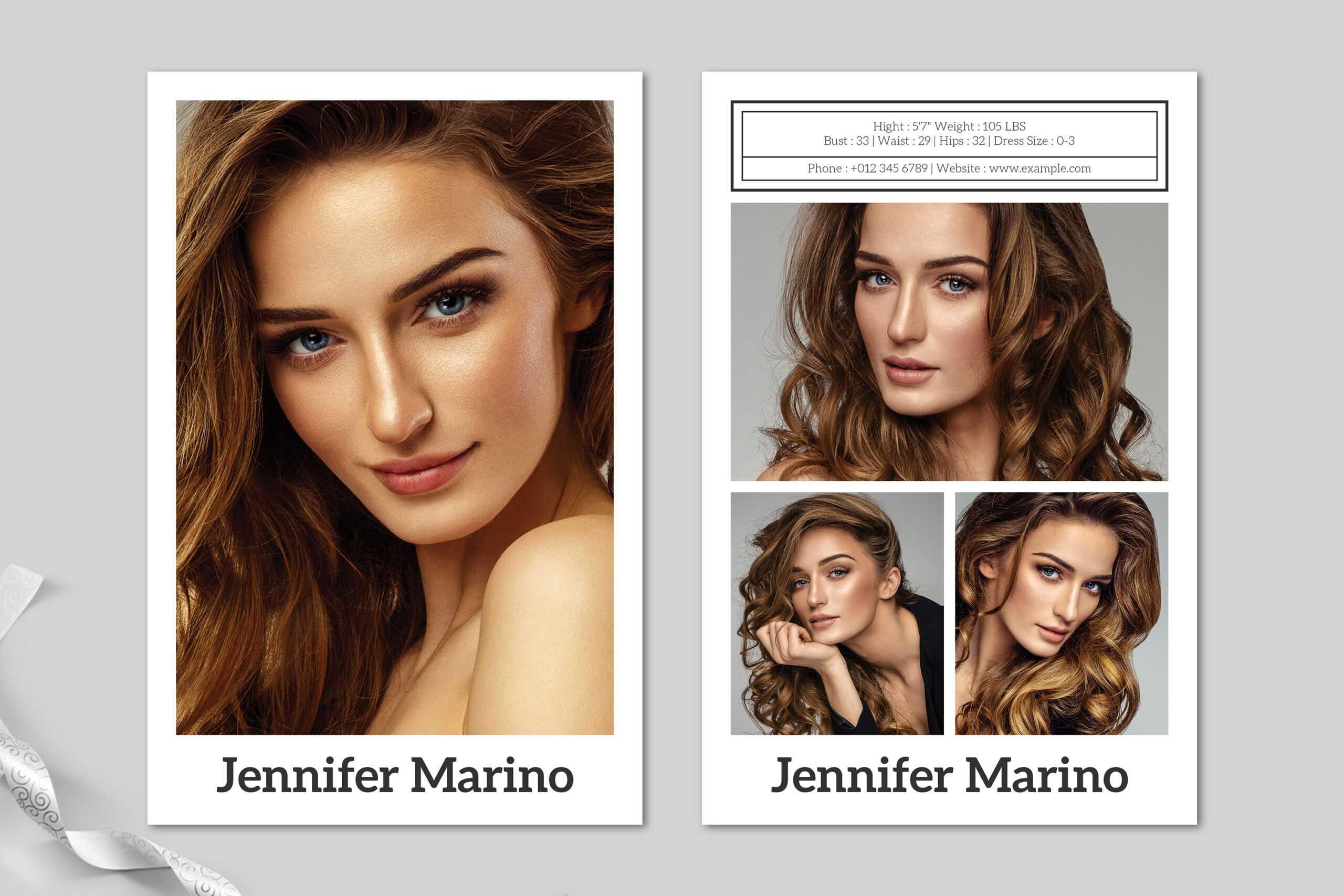 Model Comp Card Template Inside Free Zed Card Template