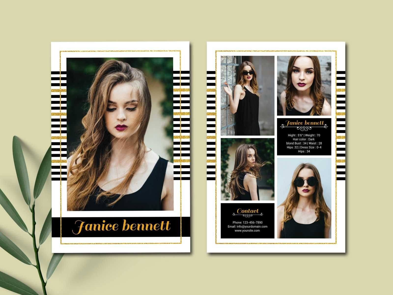 Model Comp Card Templateultimatetemplate On Dribbble Inside Comp Card Template Download