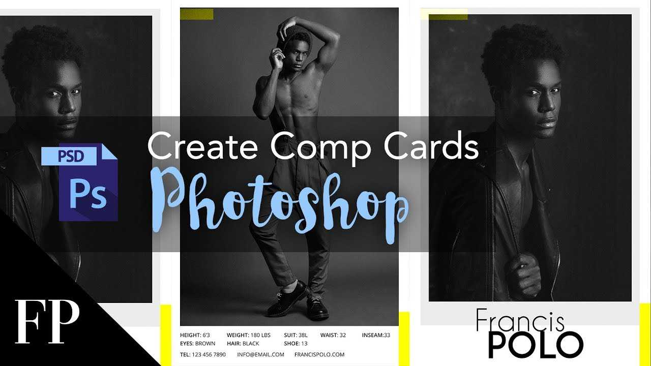 Model Comp Card With Adobe Photoshop + Free Template Regarding Comp Card Template Download