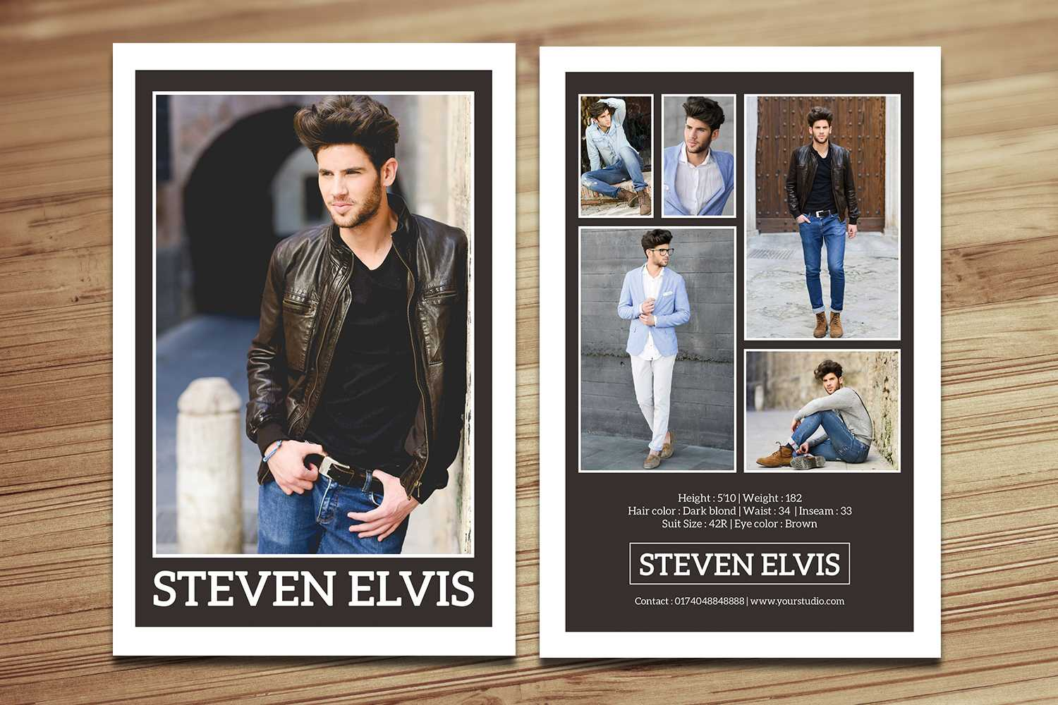 Model Comp Card / Zed Card Collections On Behance In Comp Card Template Download