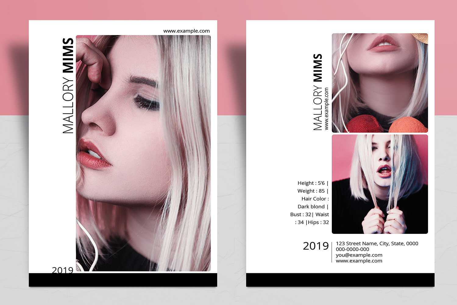 Modeling Comp Card Template | Model Comp Card, Composite Card | Ms Word &  Photoshop Template , Instant Download V17 Intended For Comp Card Template Download