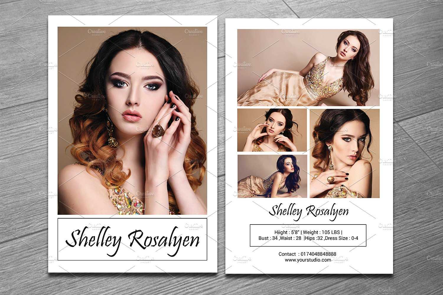 Modeling Comp Card Template - Sistec Throughout Comp Card Template Psd