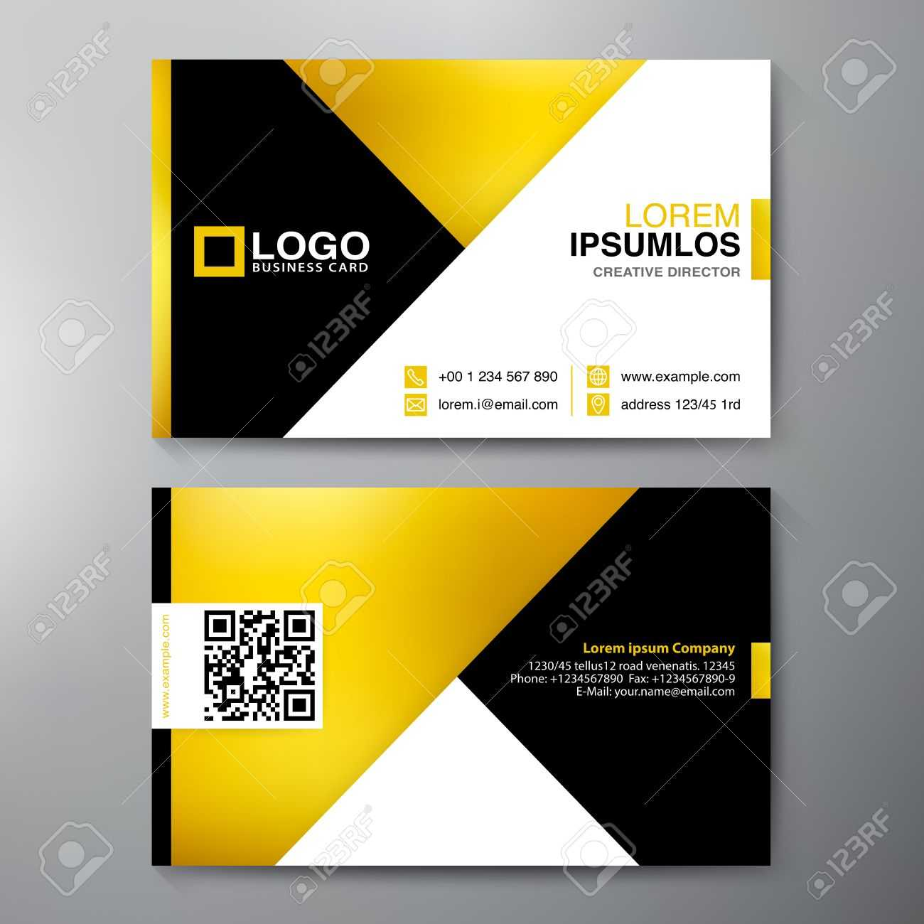 Modern Business Card Design Template. Vector Illustration Regarding Modern Business Card Design Templates
