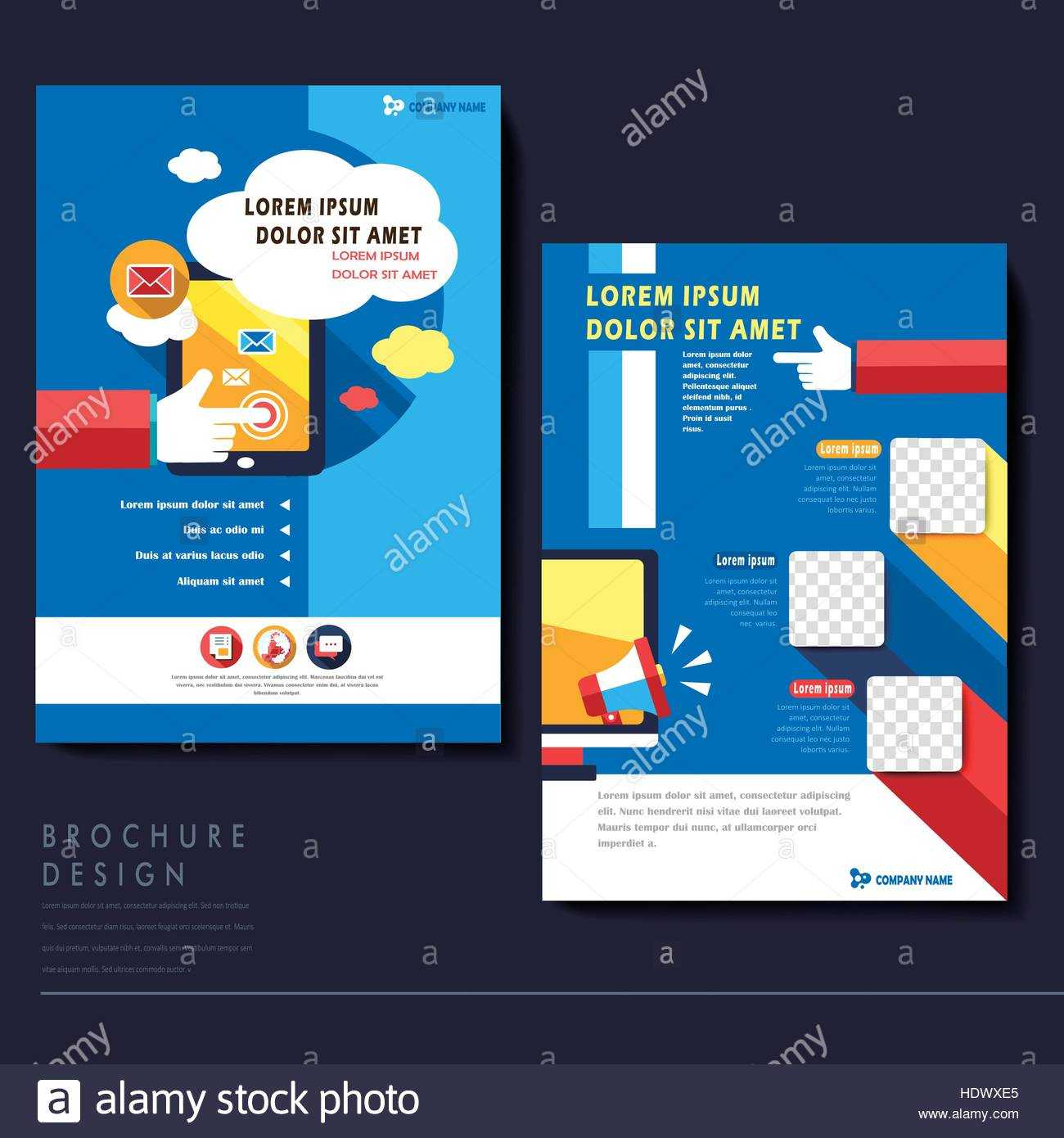 Modern Flat Design Flyer Template For Social Media Concept Regarding Social Media Brochure Template