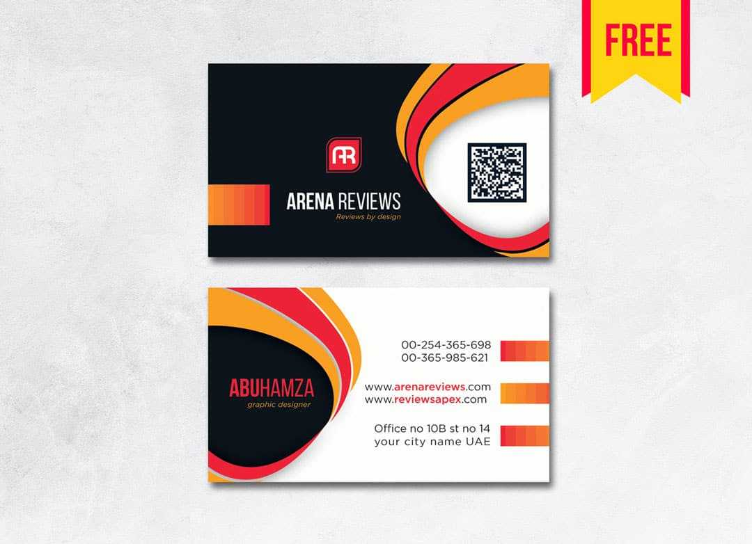 Modern Professional Business Card - Free Download | Arenareviews Inside Professional Business Card Templates Free Download