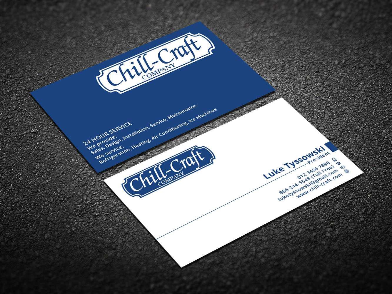 Modern, Professional, Hvac Business Card Design For Chill Regarding Hvac Business Card Template