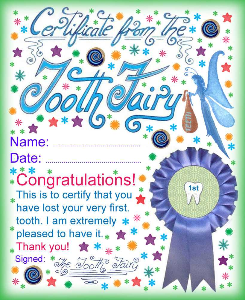 Modern Tooth Fairy Certificates | Rooftop Post Printables With Free Tooth Fairy Certificate Template