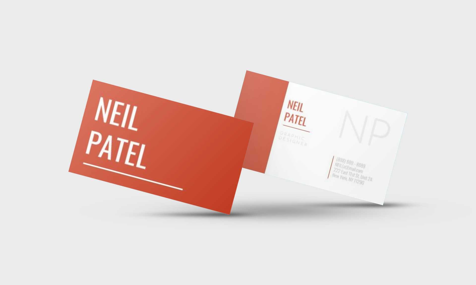 Neil Patel Google Docs Business Card Template - Stand Out Shop With Google Docs Business Card Template