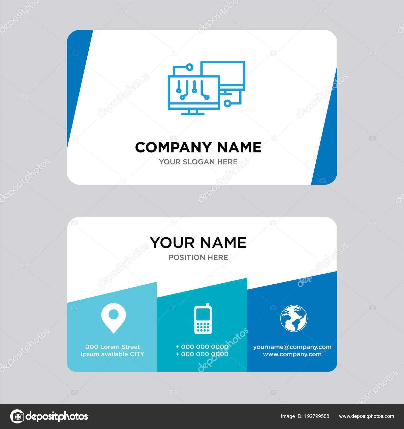 Network Business Card Design Template — Stock Vector Regarding Networking Card Template