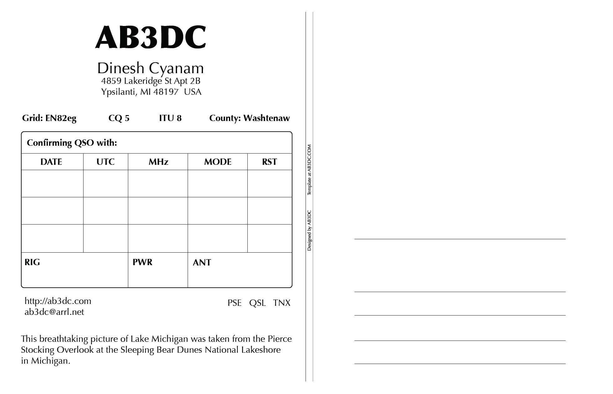 New Qsl Cards Design – Ab3Dc's Ham Radio Blog Throughout Qsl Card Template