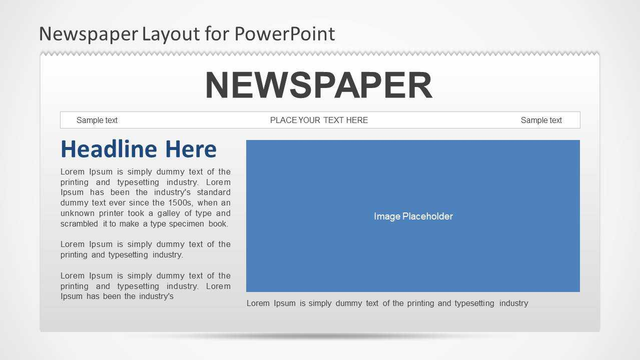 Newspaper Powerpoint Template Inside Newspaper Template For Powerpoint