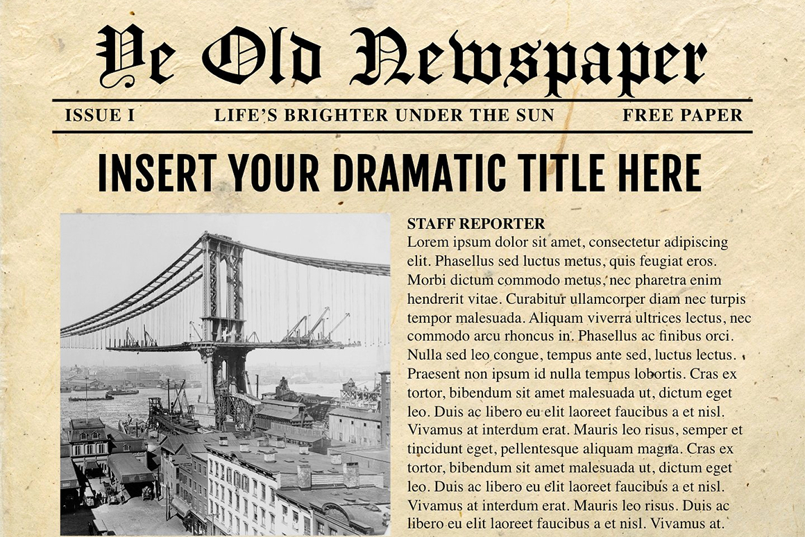 Newspaper Template For Powerpoint - Vsual In Newspaper Template For Powerpoint