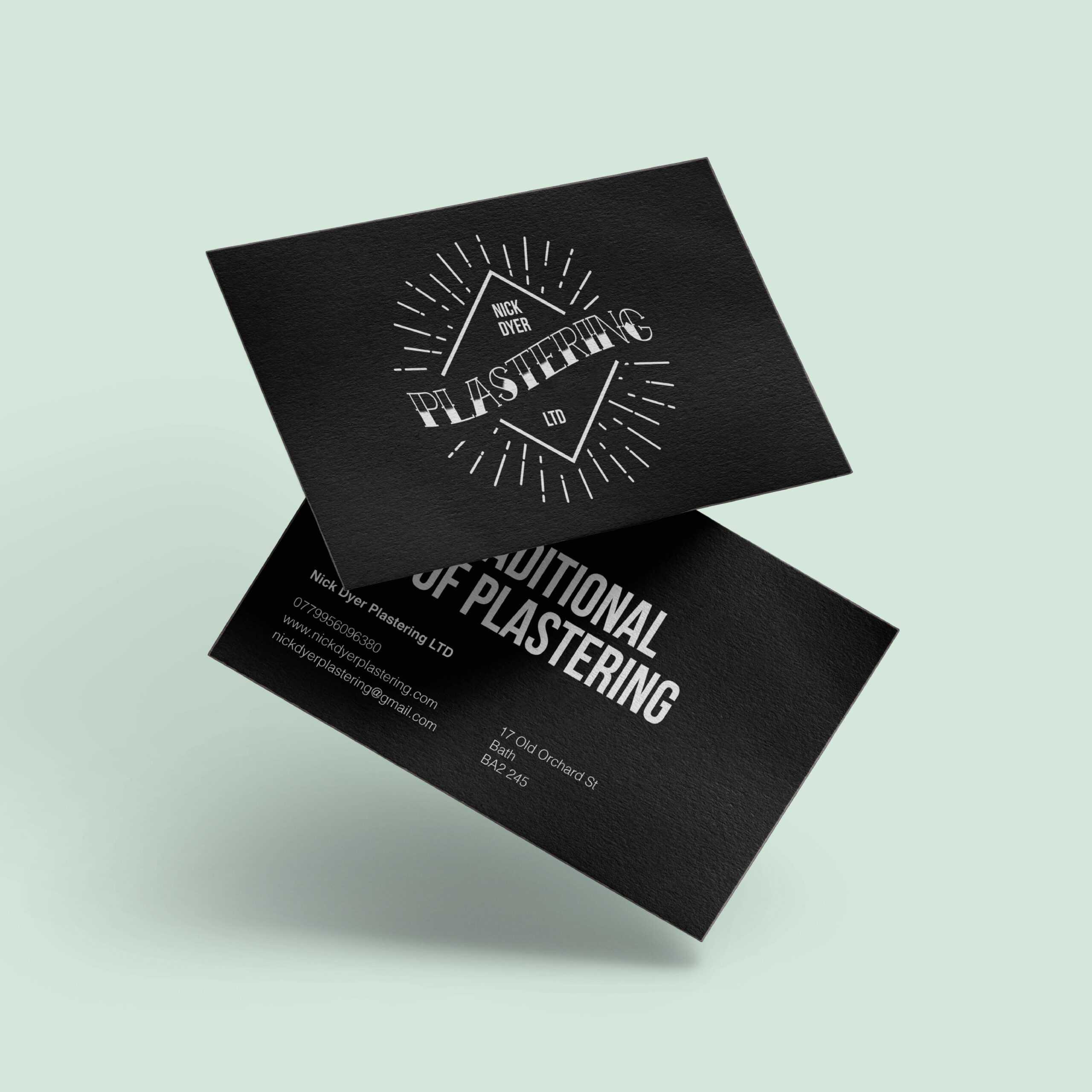 Nick Dyer Plastering   Createdjasmine Throughout Plastering Business Cards Templates