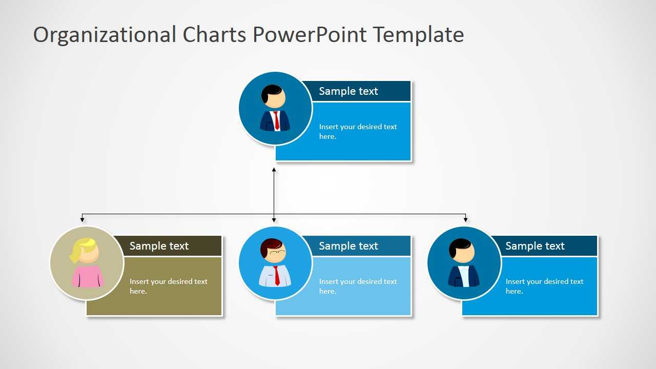 Organizational Charts Powerpoint Template In Microsoft Powerpoint Org Chart Template
