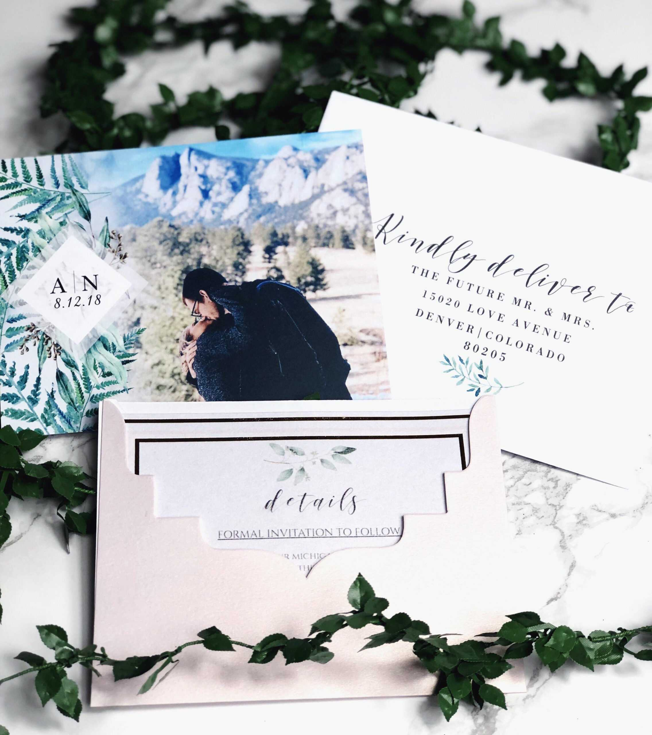 Our Save The Dates! Photo From Vistaprint, Envelope Pertaining To Michaels Place Card Template