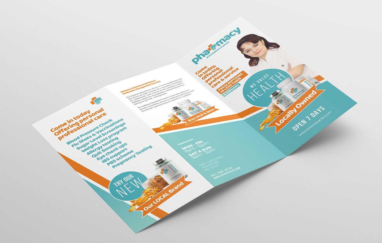 Pharmacy Tri Fold Brochure Template - Psd, Ai & Vector Within Pharmacy Brochure Template Free