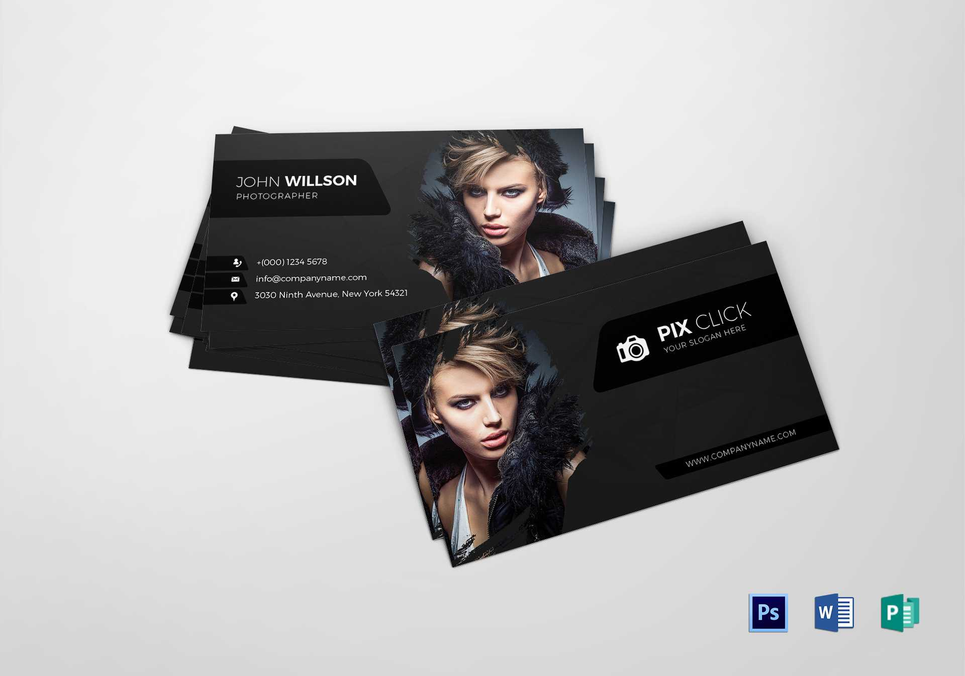 Photographer Business Card Template Within Photography Business Card Template Photoshop