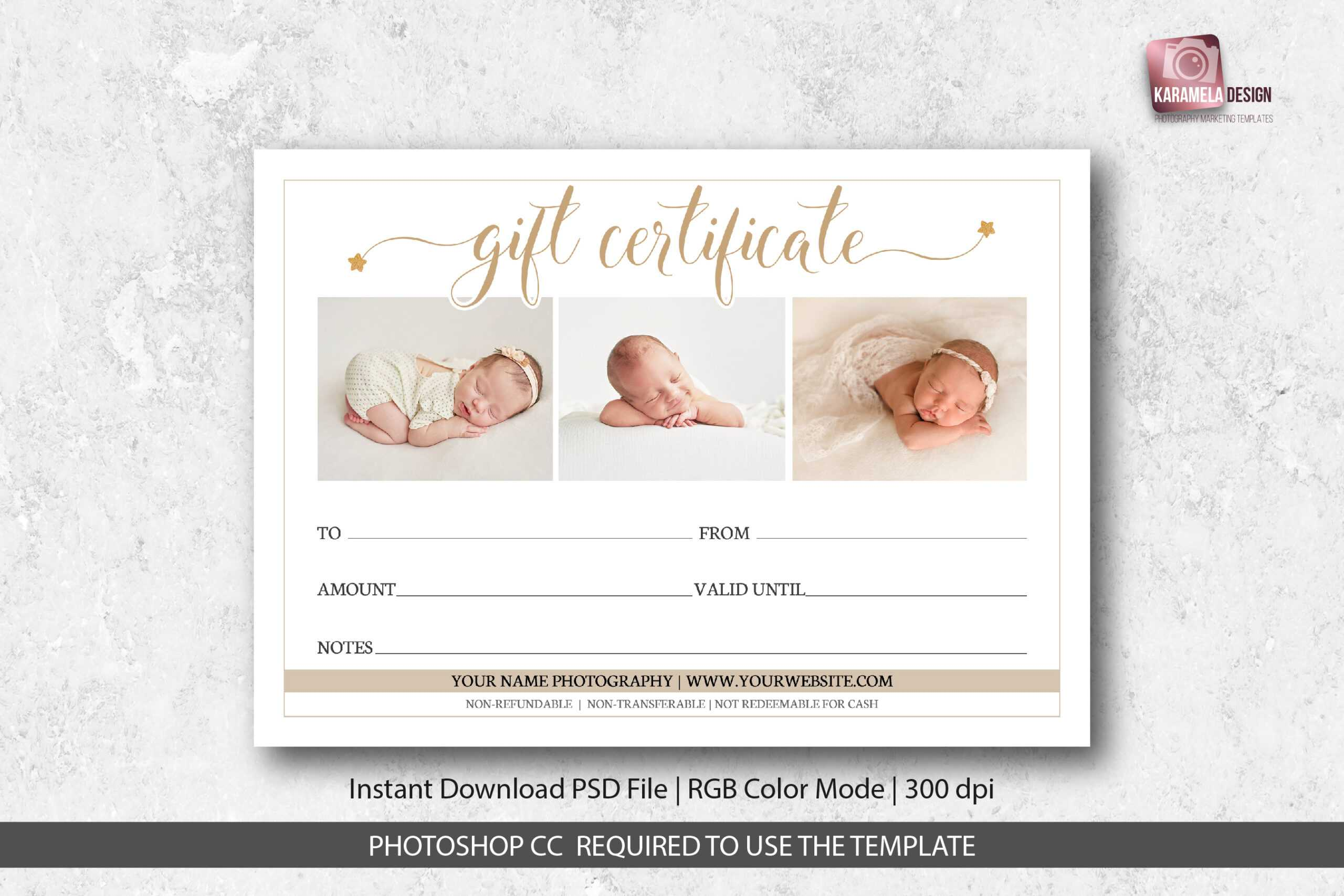 Photography Studio Gift Certificate Template Throughout Photoshoot Gift Certificate Template