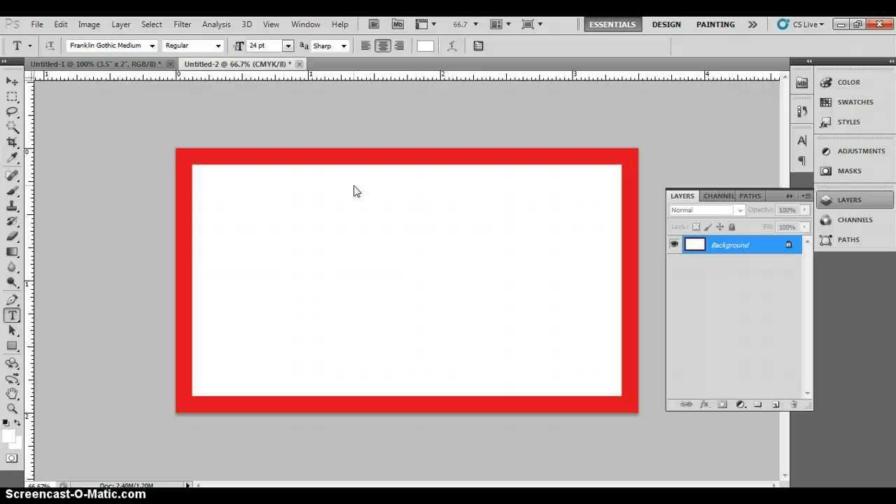Photoshop Business Card Template With Bleeds & Correct Business Card  Dimensions In Business Card Size Template Photoshop