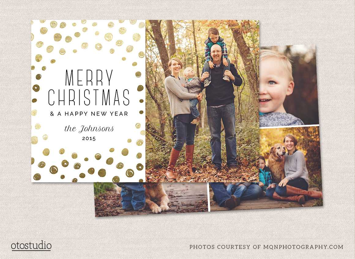 Photoshop Christmas Card Templates - Barati.ald2014 Throughout Free Photoshop Christmas Card Templates For Photographers