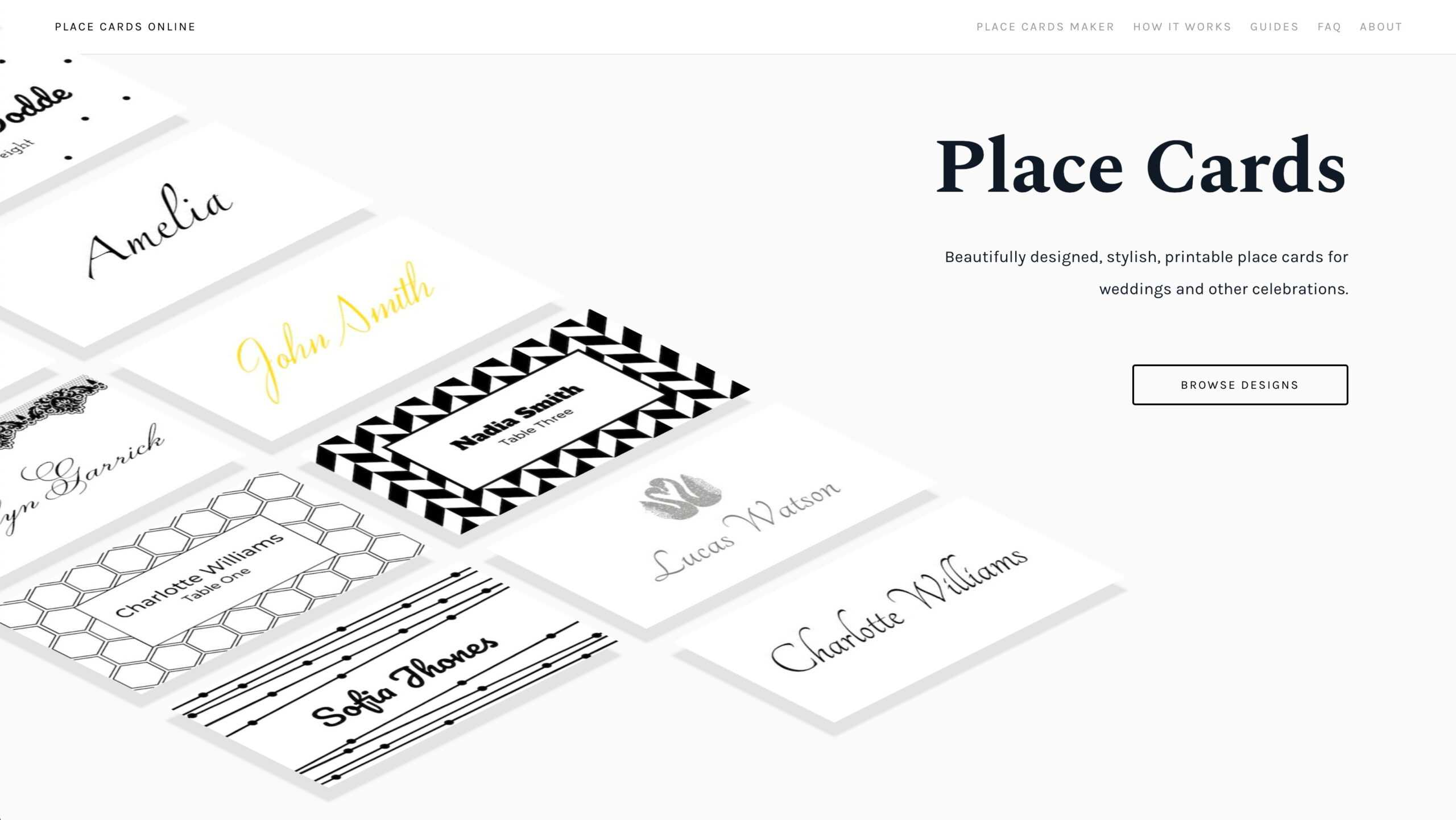 Place Cards Online - Place Cards Maker. Beautifully Designed Inside Celebrate It Templates Place Cards