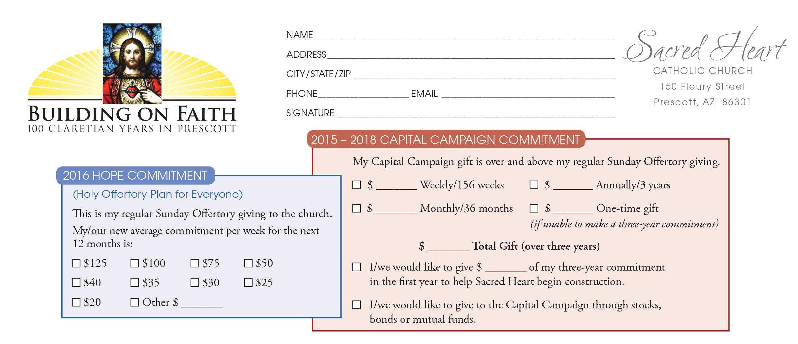 Pledge Card Sample - Karati.ald2014 Inside Church Pledge Card Template