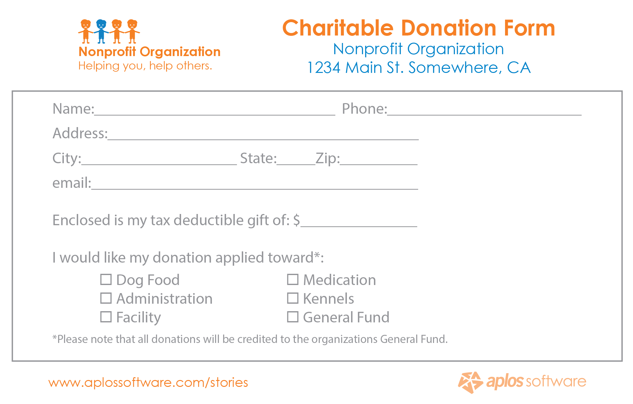 Pledge Donation - Karan.ald2014 Throughout Fundraising Pledge Card Template