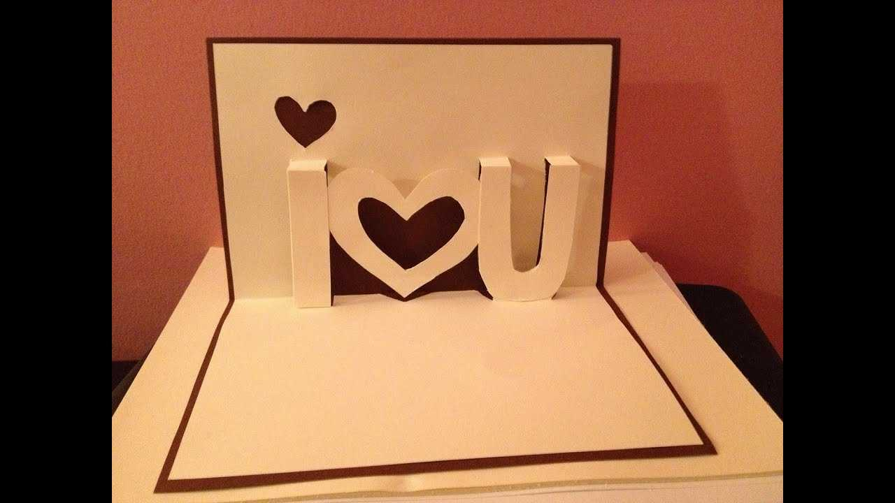 Pop Up Cards - I Love You Pop Up Card - Youtube Inside I Love You Pop Up Card Template