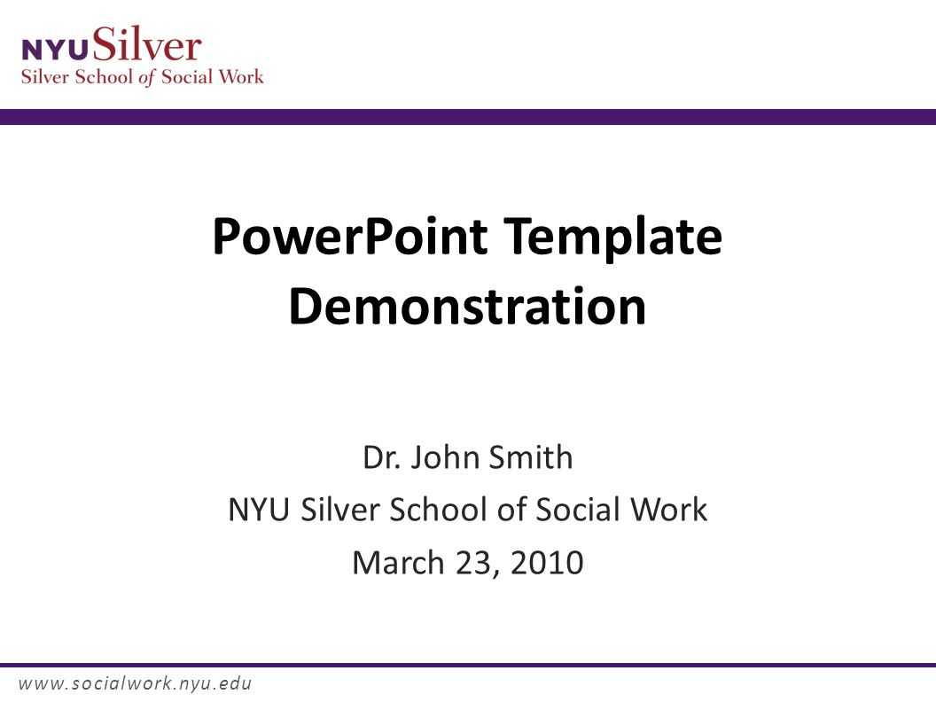 Powerpoint Template Demonstration Dr. John Smith Nyu Silver In Nyu Powerpoint Template