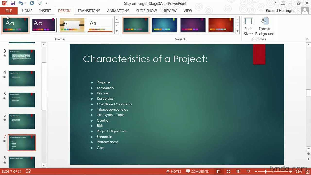 Powerpoint Tutorial: How To Change Templates And Themes | Lynda Regarding Change Template In Powerpoint