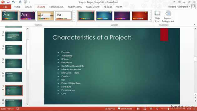 Powerpoint Tutorial: How To Change Templates And Themes   Lynda with Powerpoint Replace Template