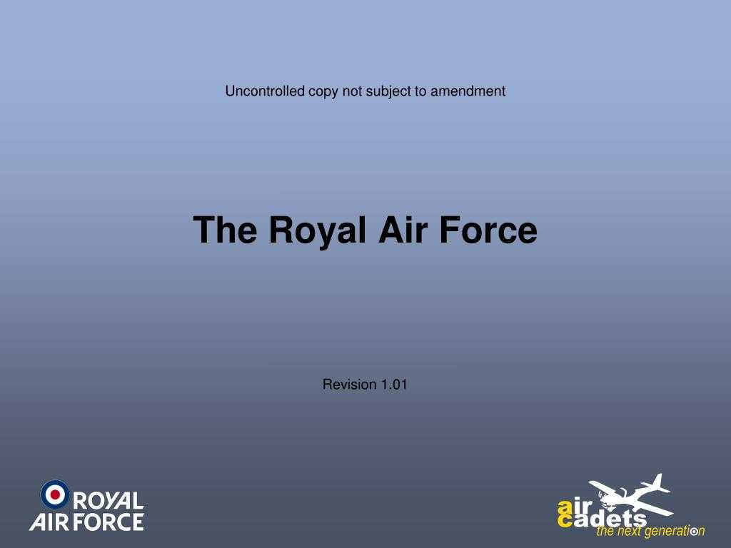 Ppt - The Royal Air Force Powerpoint Presentation, Free with Raf Powerpoint Template