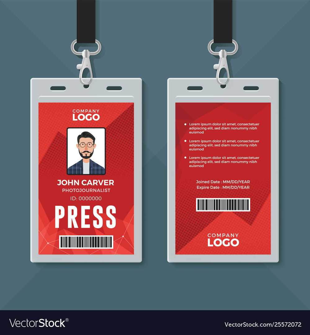 Press Id Card Design Template in Media Id Card Templates