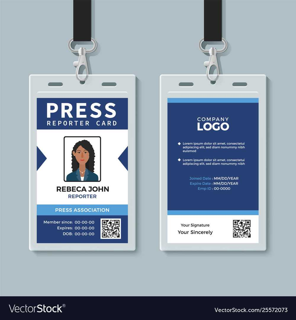 Press Reporter Id Card Template Intended For Media Id Card Templates