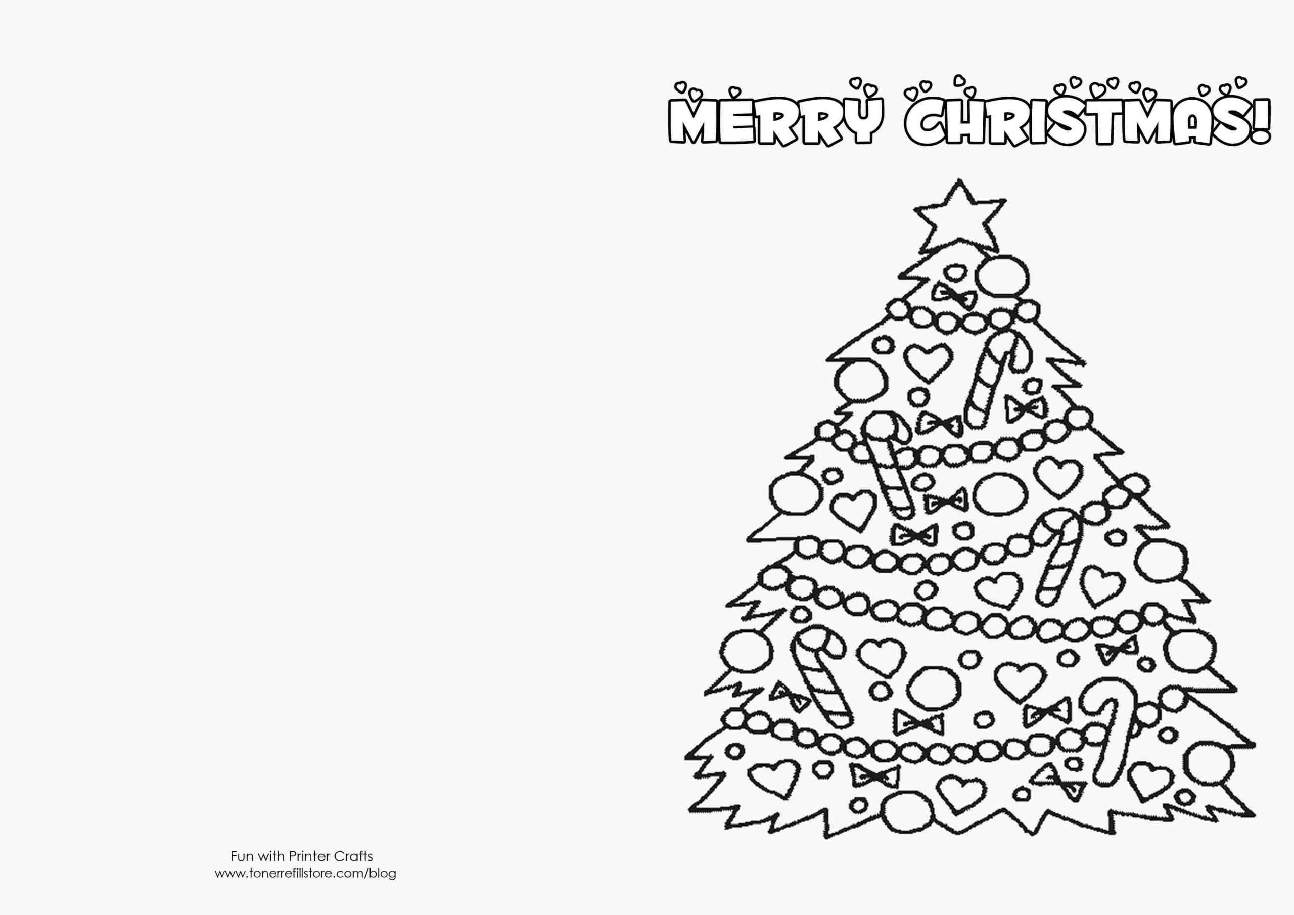 Printable Coloring Christmas Cards Templates How To Make Inside Printable Holiday Card Templates