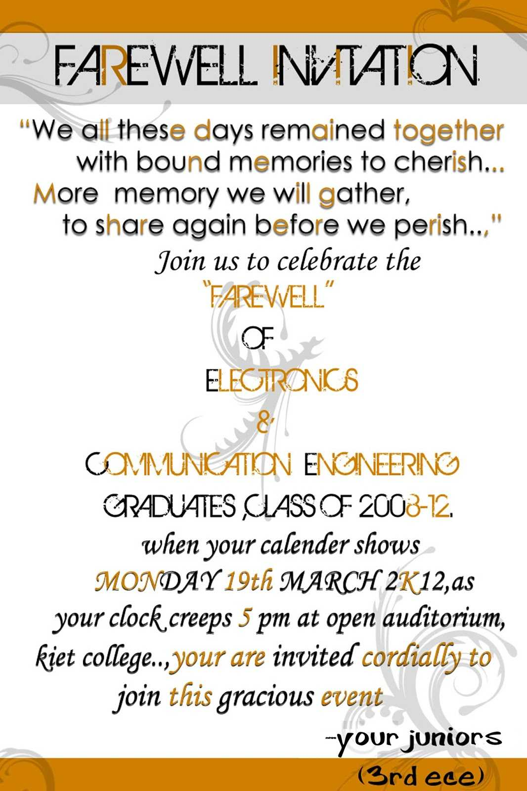 Printable Farewell Card - Karati.ald2014 Regarding Farewell Card Template Word