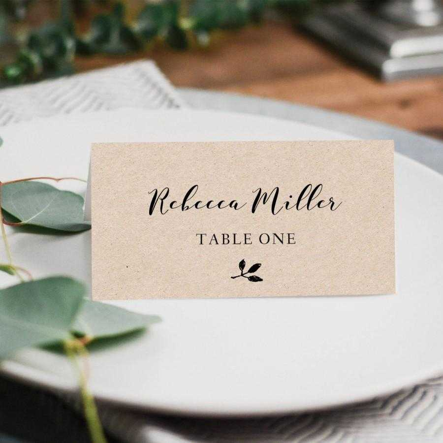 Printable Place Cards, Place Card Template, Editable Place Intended For Printable Escort Cards Template