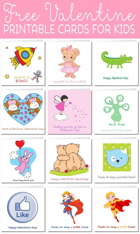 Printable Valentine Cards For Kids Regarding Valentine Card Template For Kids