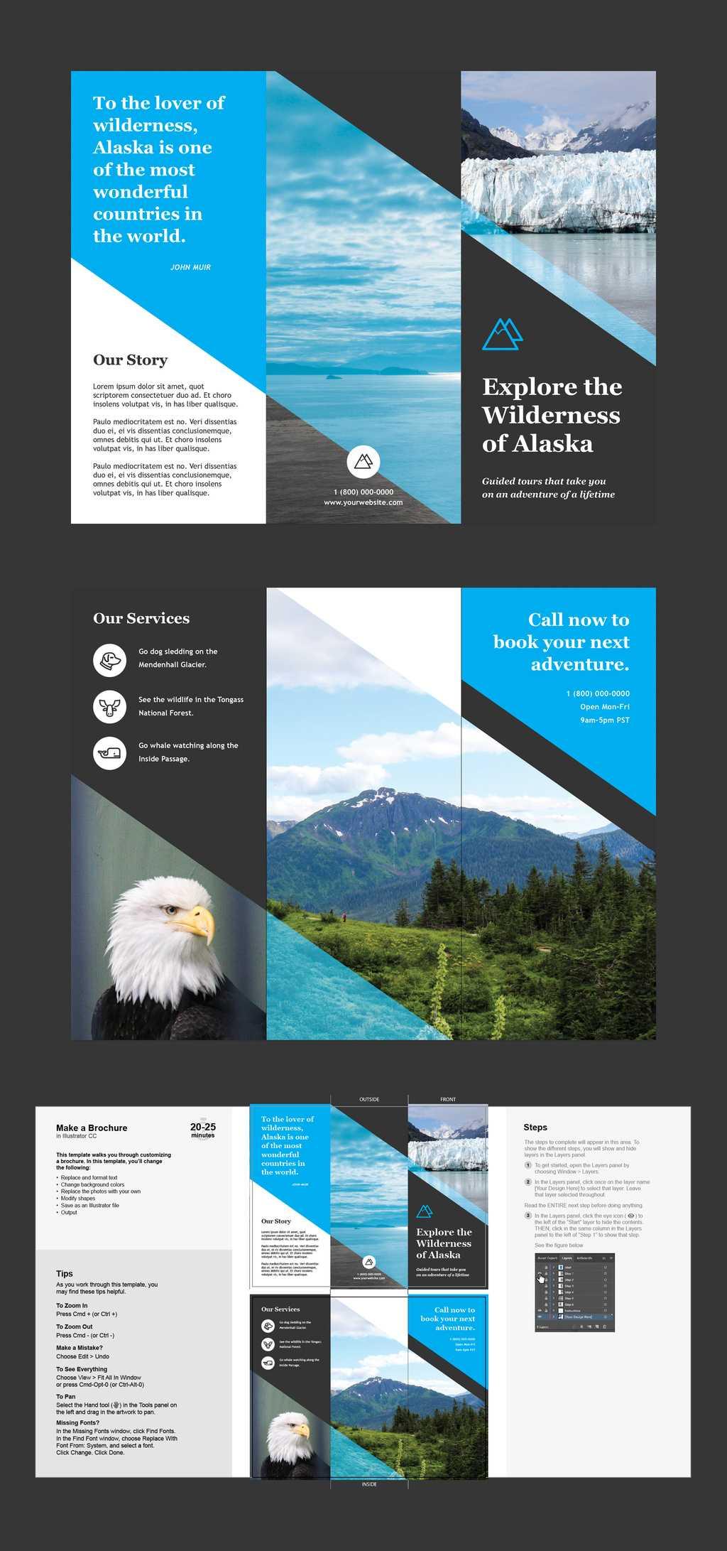 Professional Brochure Templates | Adobe Blog Inside Adobe Illustrator Brochure Templates Free Download