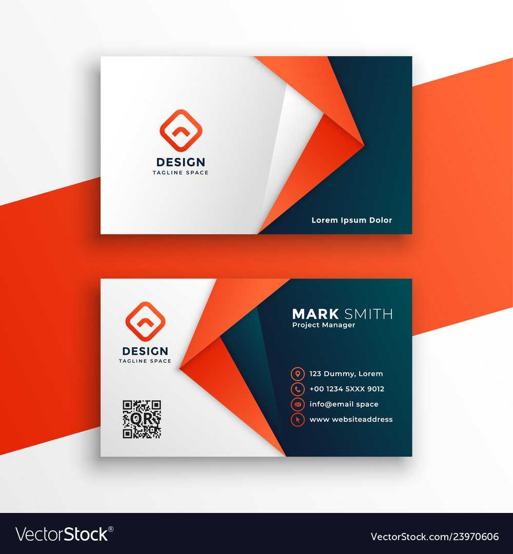 Professional Business Card Template Design Inside Designer Visiting Cards Templates