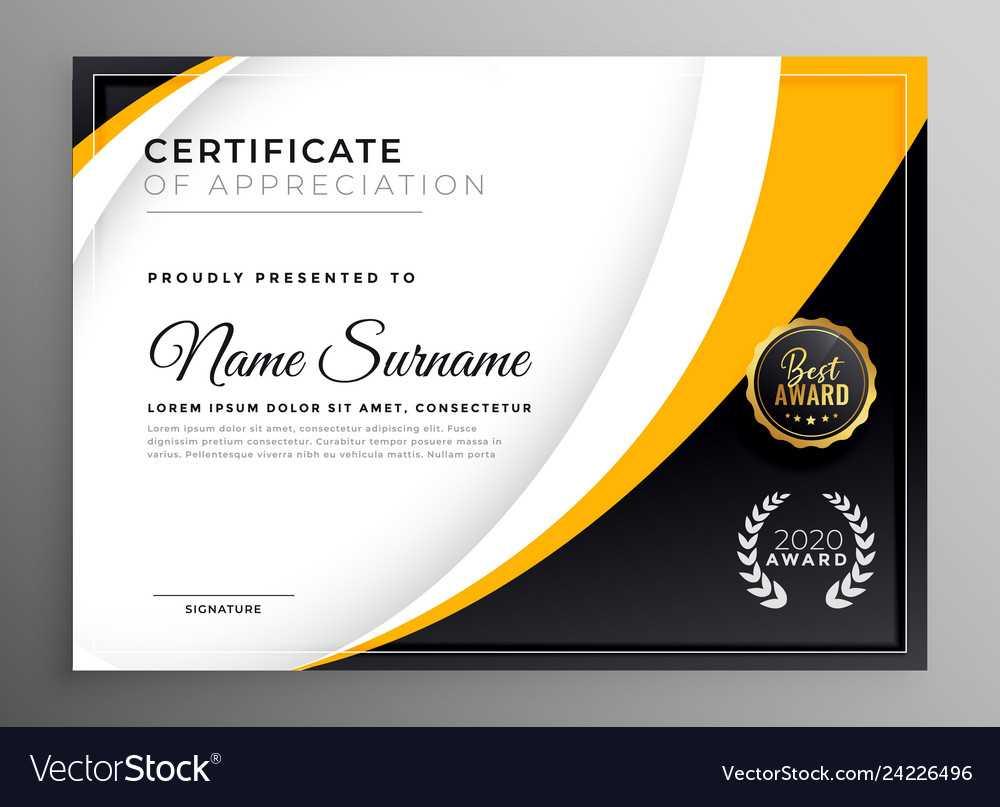 Professional Certificate Template Diploma Award Intended For Professional Award Certificate Template