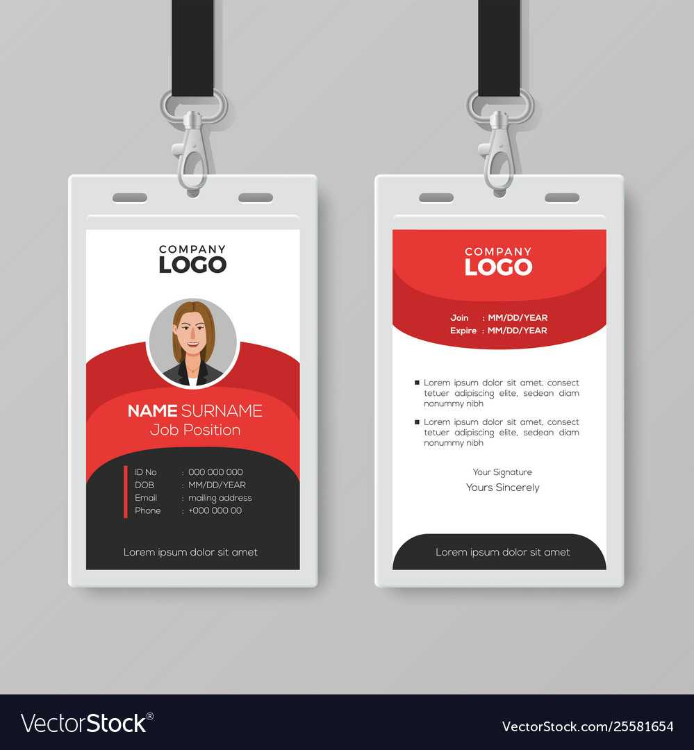 Professional Employee Id Card Template Pertaining To Work Id Card Template