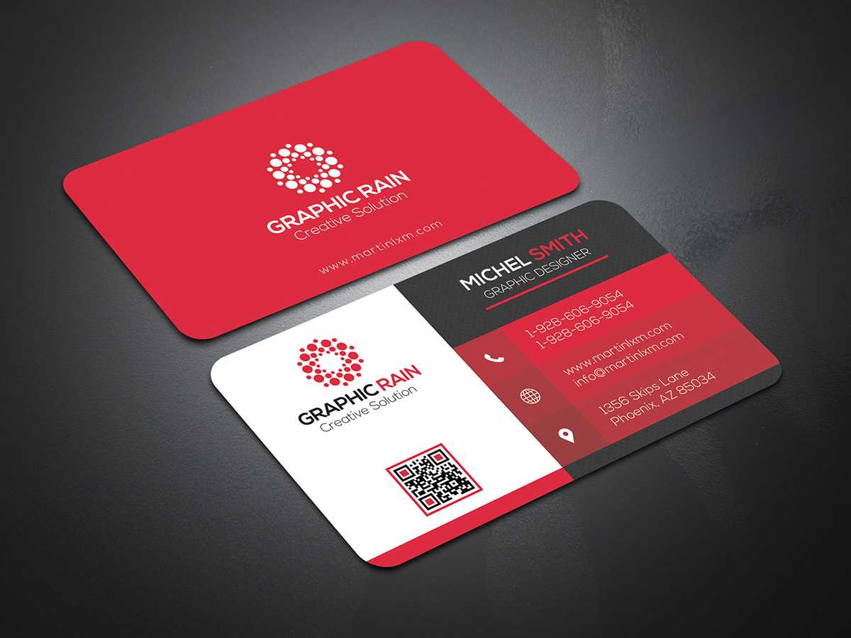 Psd Business Card Template On Behance Within Psd Visiting Card Templates