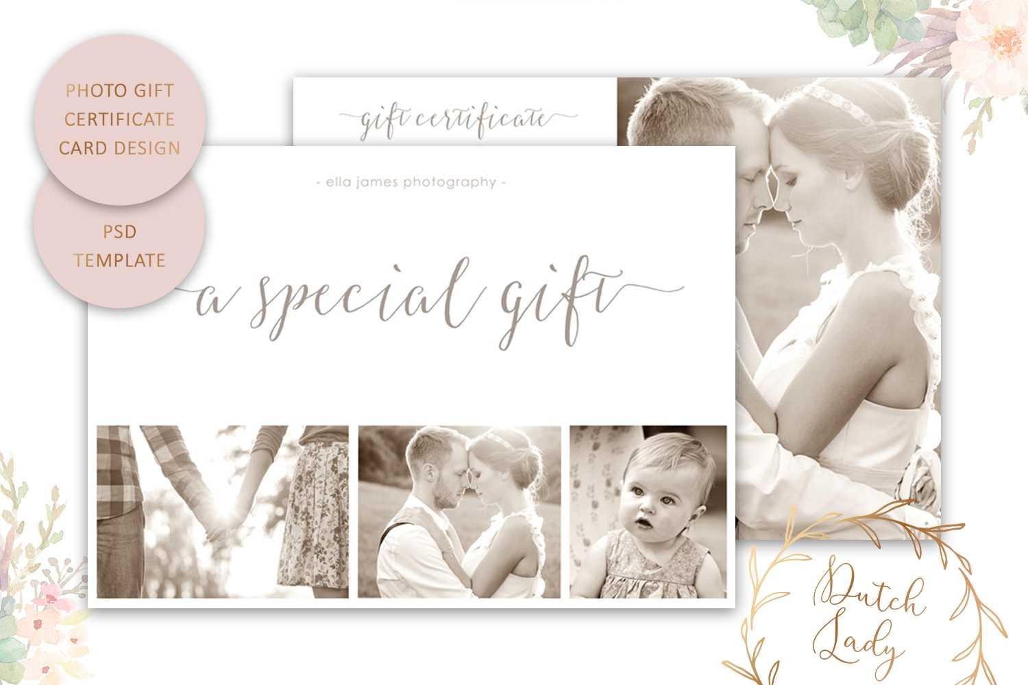 Psd Photography Gift Certificate Card Template 8 - Vsual Pertaining To Free Photography Gift Certificate Template