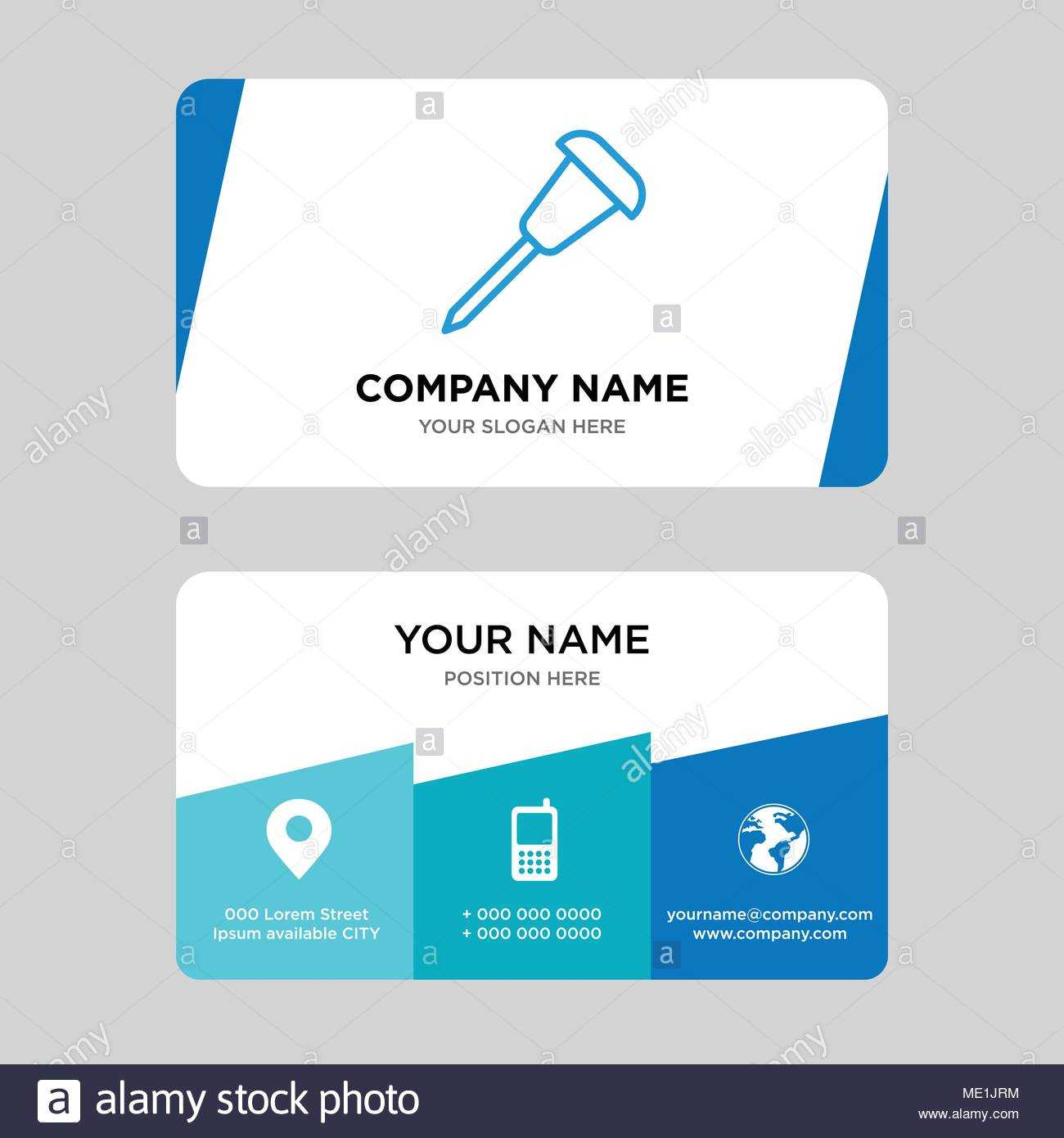 Pushpin Business Card Design Template, Visiting For Your Throughout Push Card Template