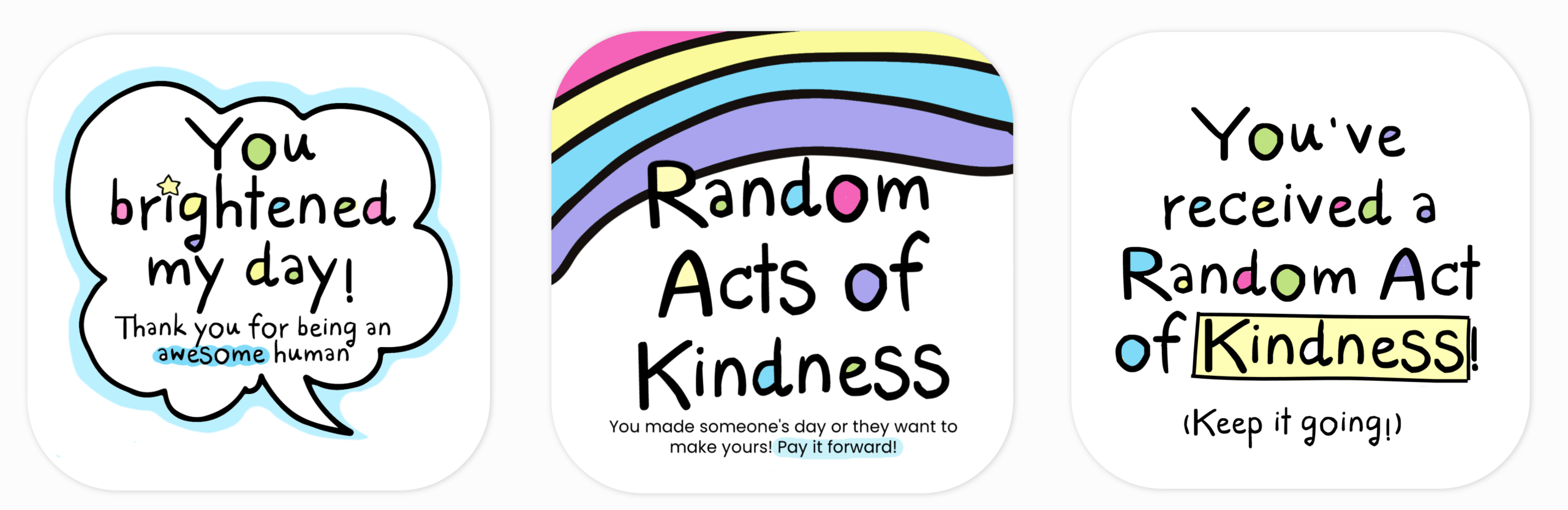 Random Acts Of Kindness Cards - Blessing Manifesting Pertaining To Random Acts Of Kindness Cards Templates