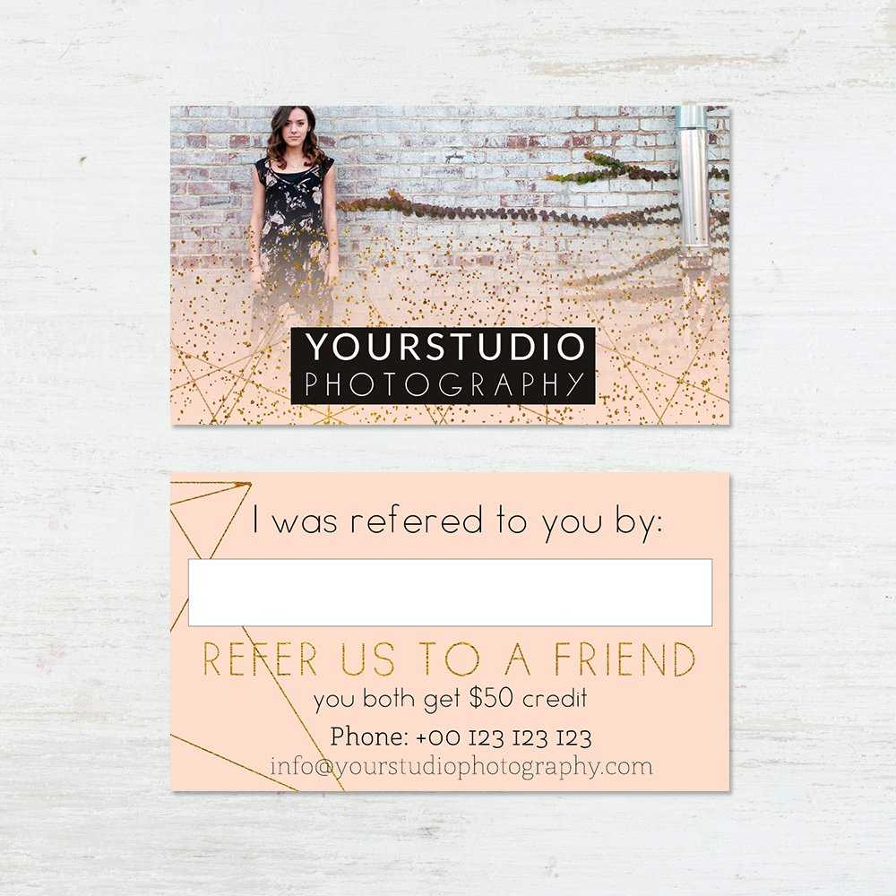 Referral Card Template | Pastel Greetings With Regard To Referral Card Template
