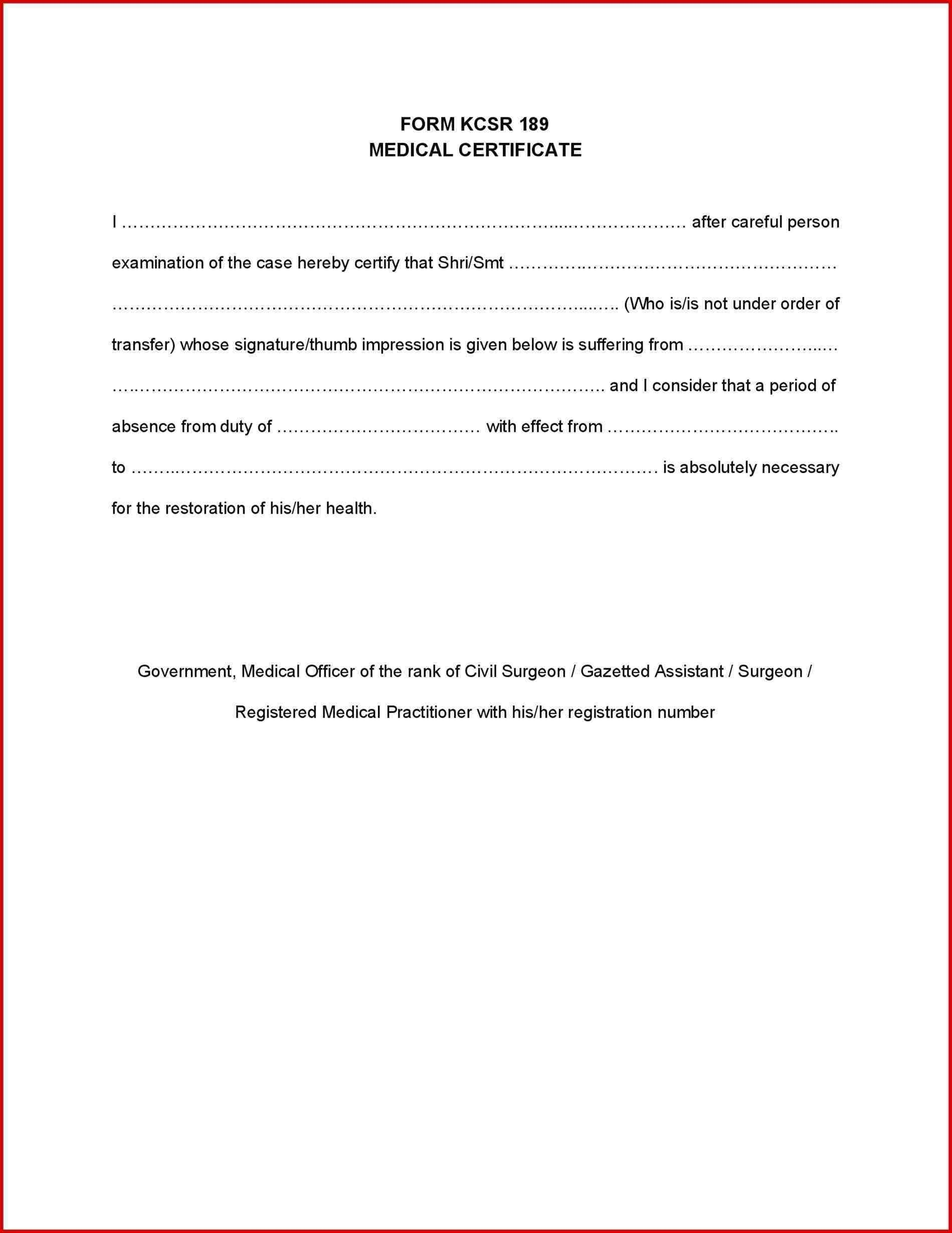 Sample Health Certificate - Barati.ald2014 Intended For Fake Medical Certificate Template Download