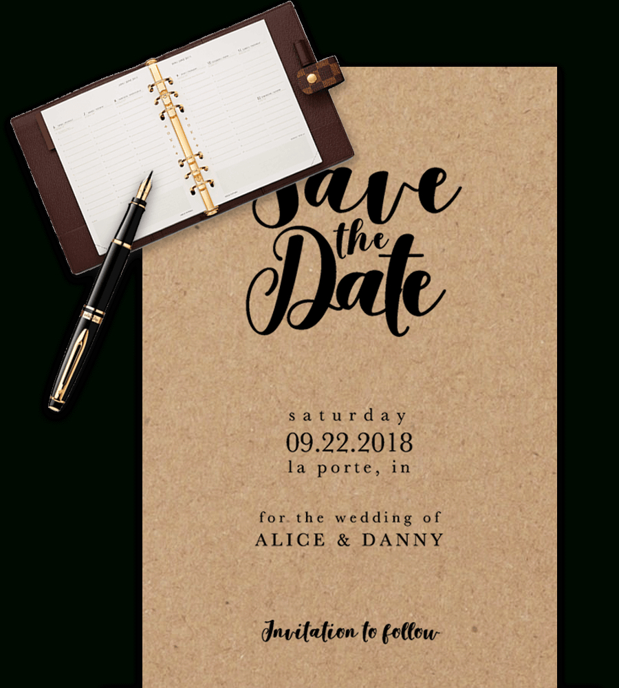 Save The Date Templates For Word [100% Free Download] Within Save The Date Powerpoint Template